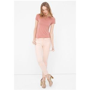 WHBM | Pale Pink Twill Skimmer Jeans